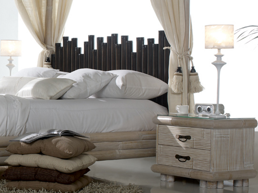 himmelbett bambusbett cabana wei 140x200 himmel. Black Bedroom Furniture Sets. Home Design Ideas