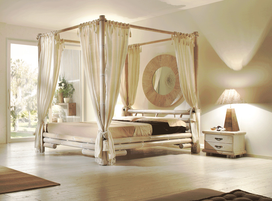 bambus himmelbett tabanan 200x220 rahmen f r wasserbett bambus bett in berl nge ebay. Black Bedroom Furniture Sets. Home Design Ideas