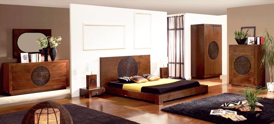 Schlafzimmer Gestalten Asiatisch : Futonbett 200×200 designerbett massivholzbett holzbett mahagoni