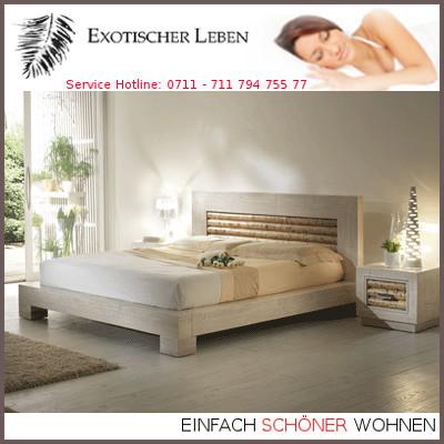 bambusbett rumba weiss 180x200 futonbett bambusbetten designerbett doppelbett ebay. Black Bedroom Furniture Sets. Home Design Ideas
