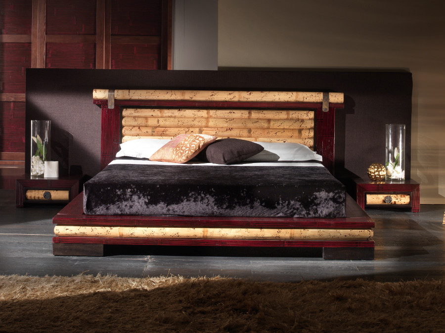 luxusbett 180x200 futonbett bambusbett designerbett holzbett doppelbett design ebay. Black Bedroom Furniture Sets. Home Design Ideas