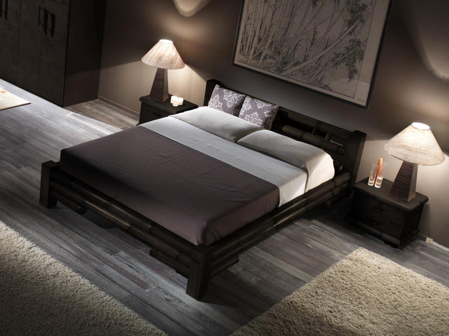 bambusbett 180x200 schwarz holzbett bambusm bel designerbett asiatisches bett ebay. Black Bedroom Furniture Sets. Home Design Ideas